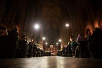 Inside view of the Minorite Church in Vienna during one of the famous Concert Spirituel of the Vienna KammerOrchester and solist Mario Hossen.